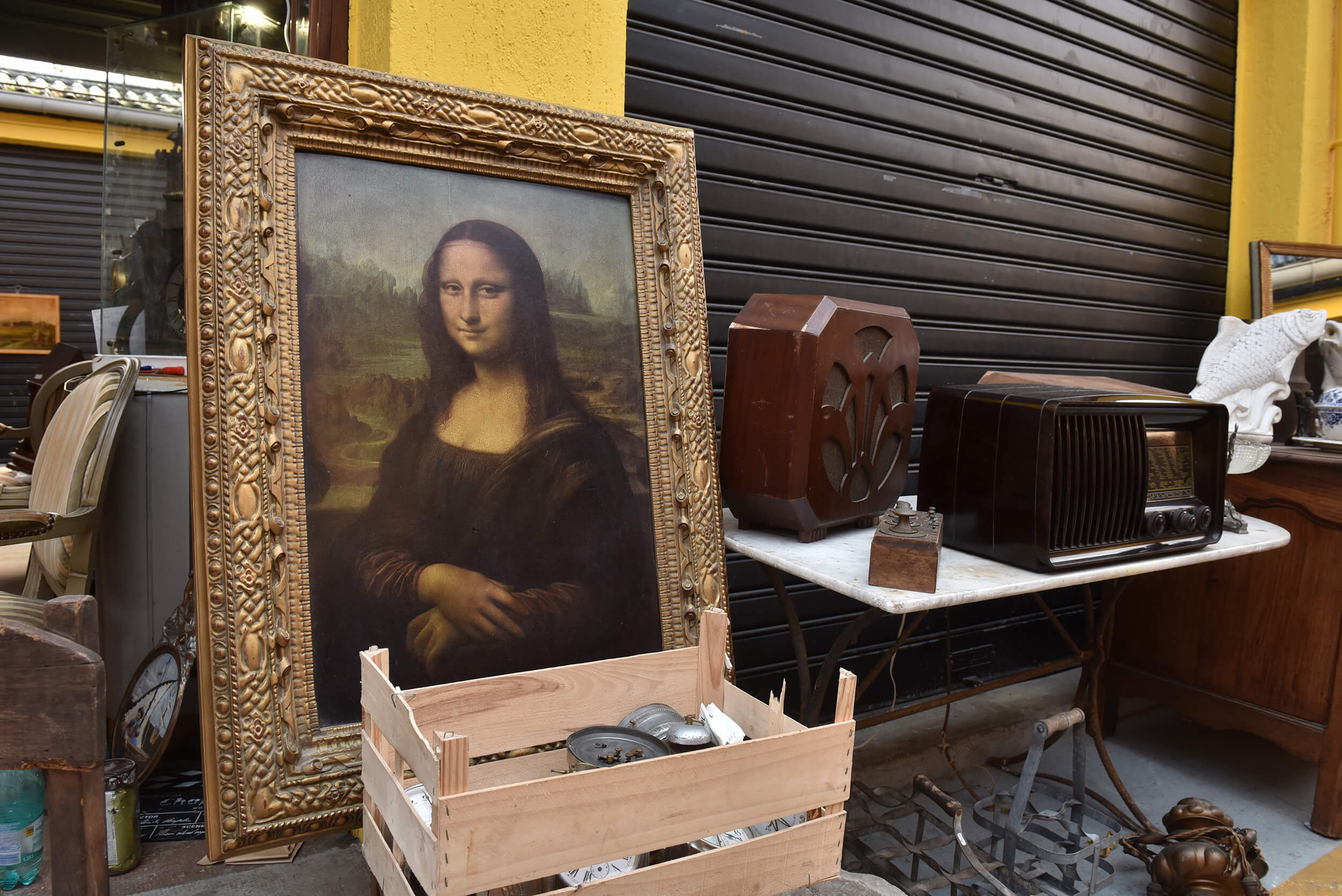 Flea market in Paris